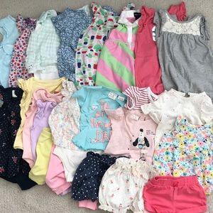 3-6 m baby Girl Summer Bundle